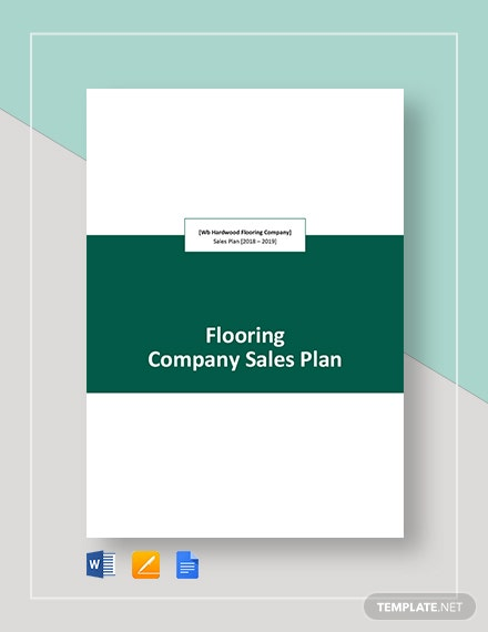 Flooring company Sales Plan Template