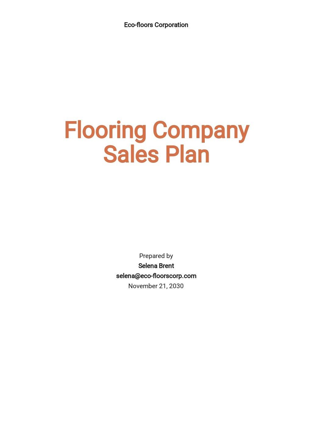 Flooring company Sales Plan Template