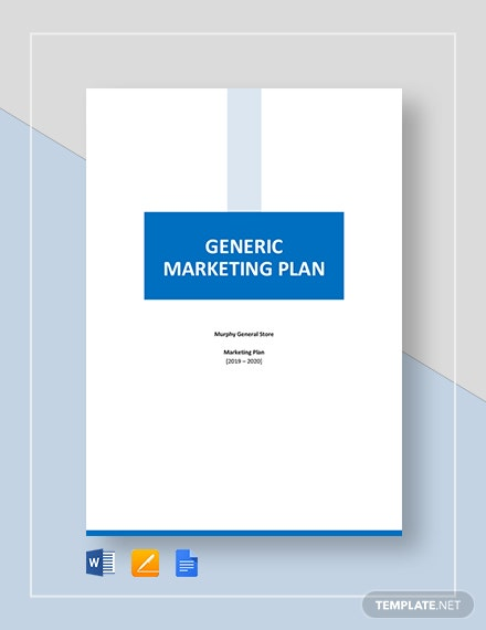 Generic Marketing Plan Template