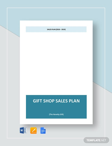 Gift Shop Sales Plan Template