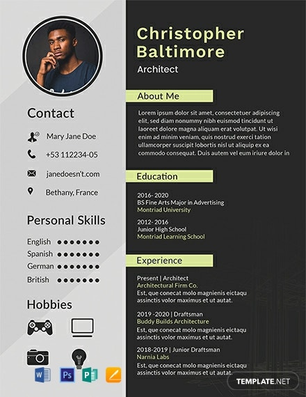 free architect resume template  download 1999  resume