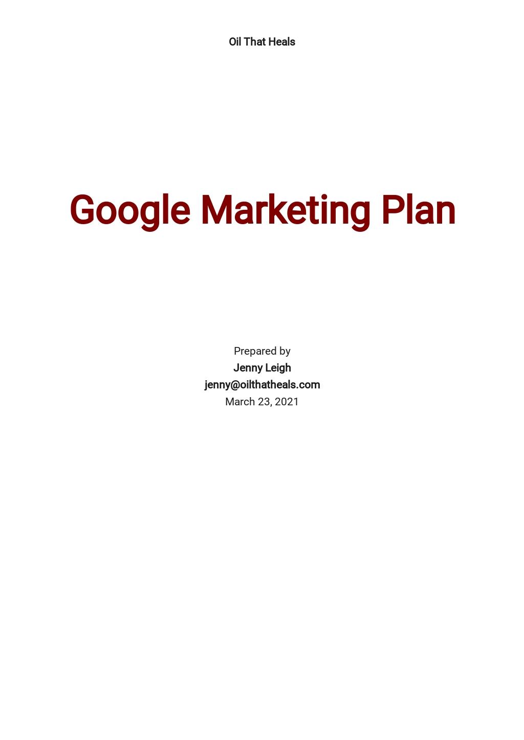 Google Marketing Plan Template.jpe