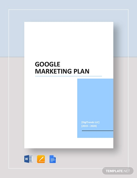 Google Marketing Plan Template