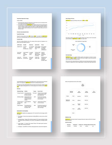 Sample Google Marketing Plan