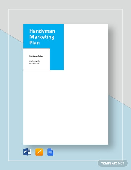 Handyman Marketing Plan Template