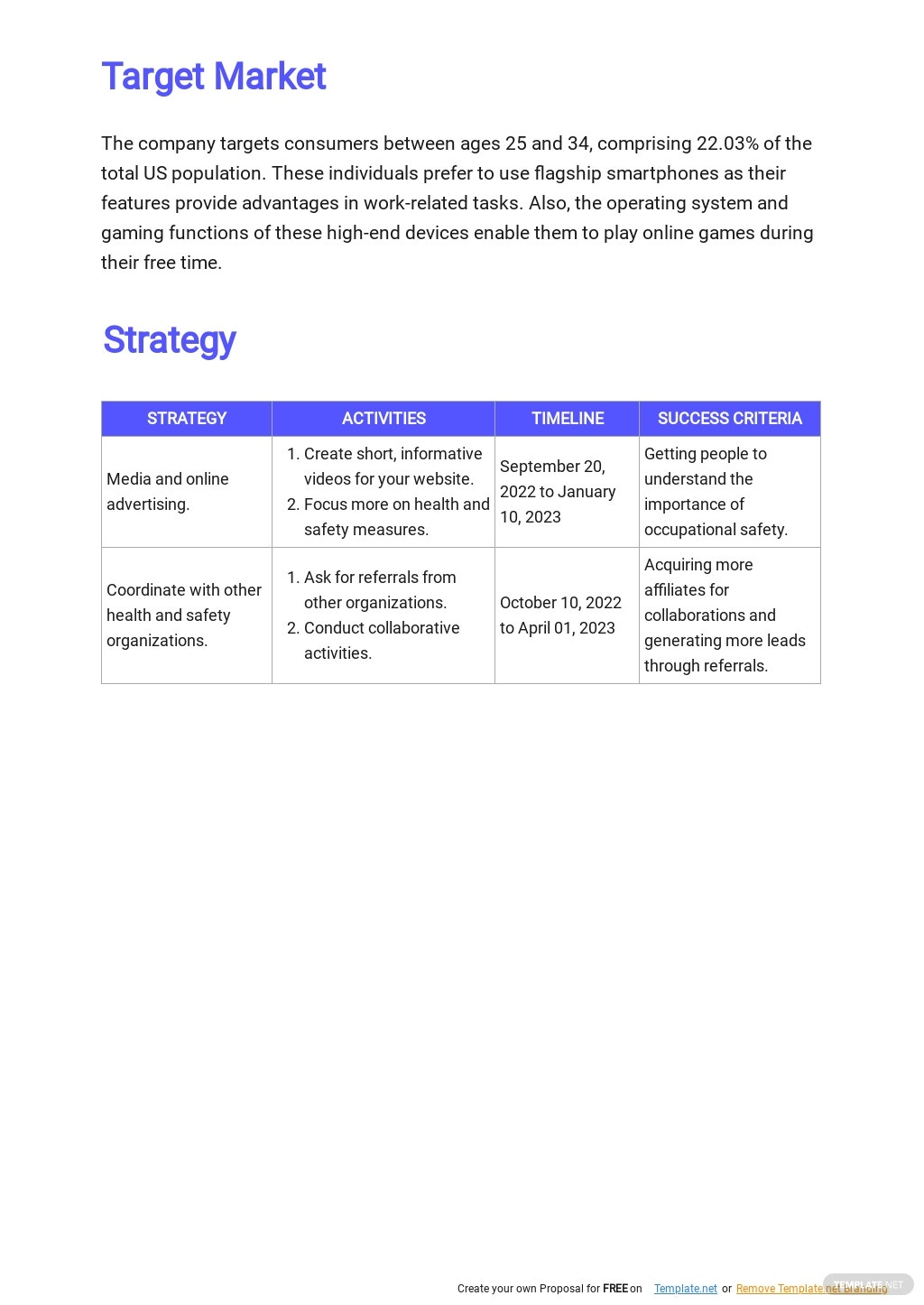 Health and Safety Marketing Plan Template 2.jpe