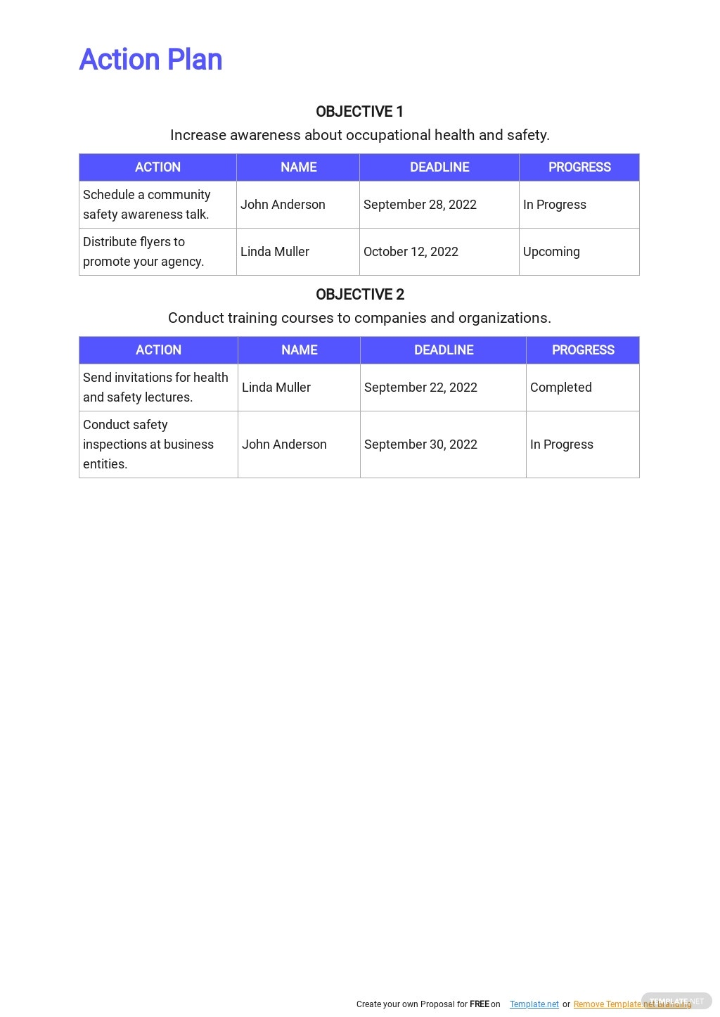 Health and Safety Marketing Plan Template 4.jpe