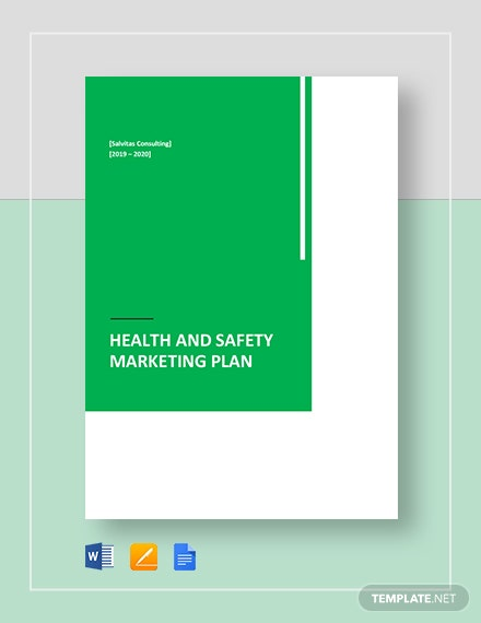 health and safety marketing plan