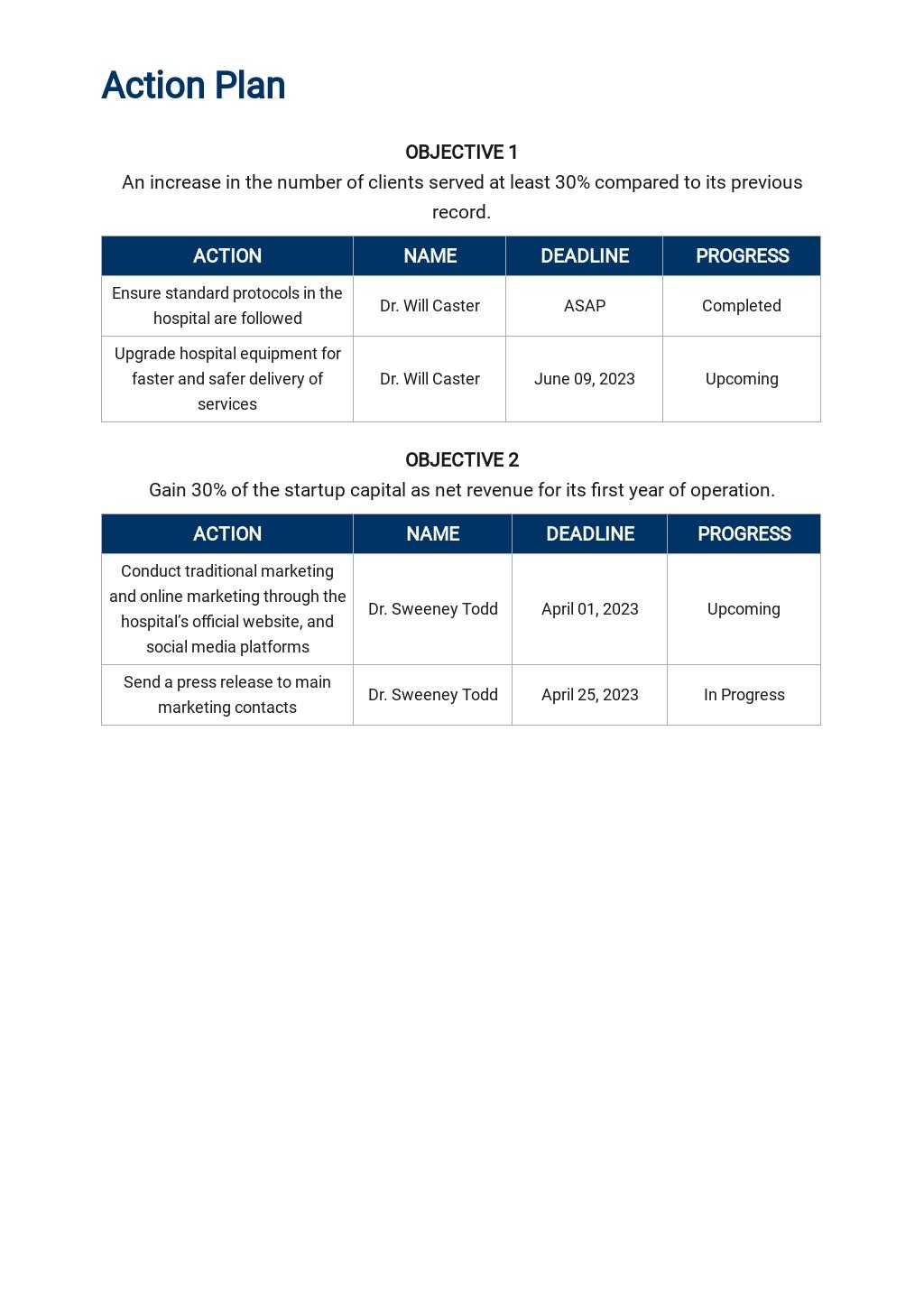 Hospital Marketing Plan Template 4.jpe