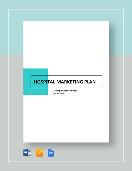 Hospital Marketing Plan Template