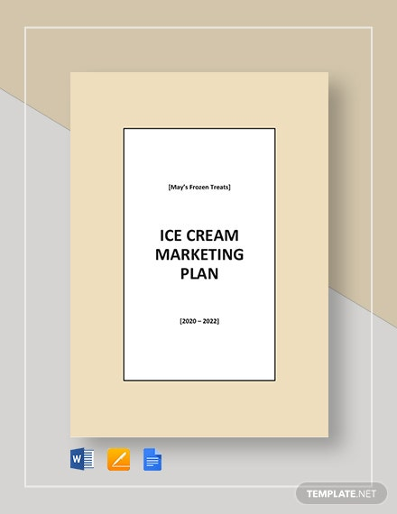 Ice cream Marketing Plan Template