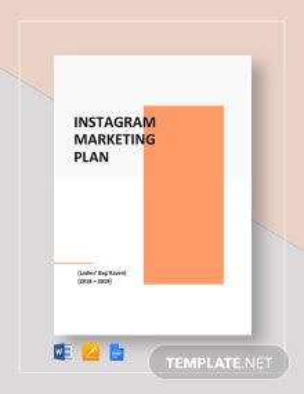 Instagram Marketing Plan Template