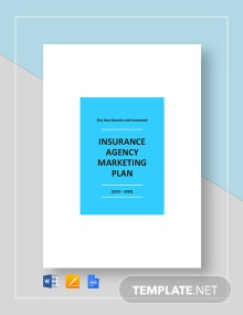 Insurance Agency Marketing Plan Template