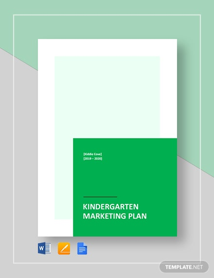 Kindergarten Marketing Plan Template