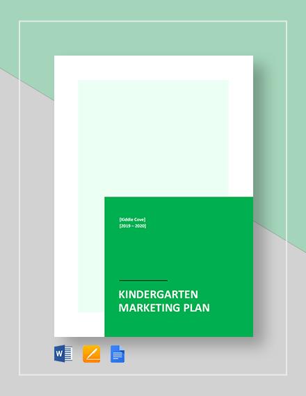 Kindergarten Marketing Plan Template