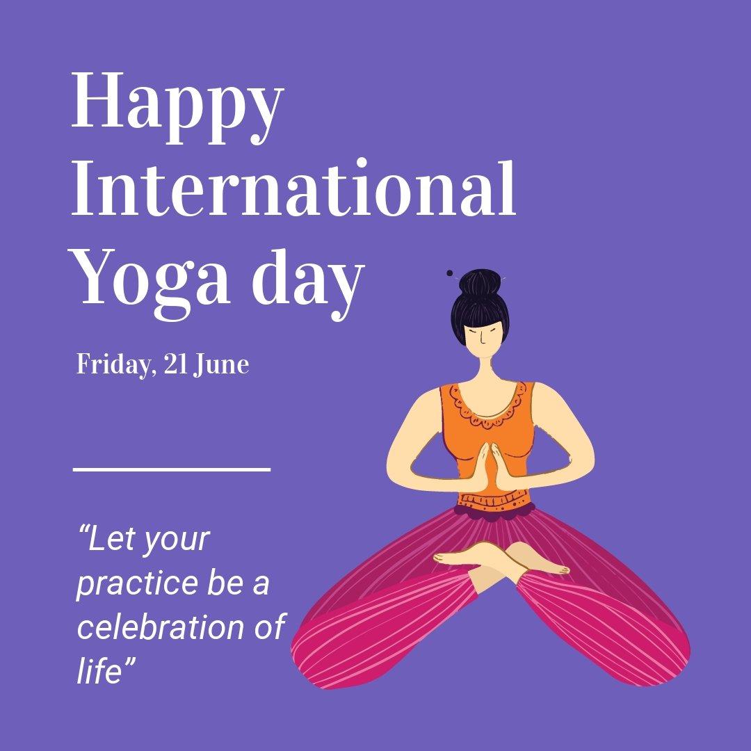 Free International Yoga Day Instagram Post Template.jpe