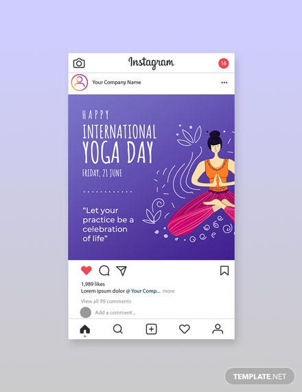 Free International Yoga Day Instagram Post Template