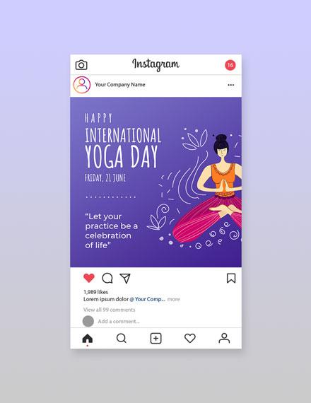 Free International Yoga Day Instagram Post Template