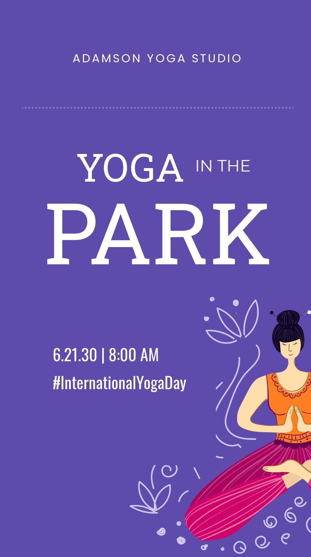 Free International Yoga Day Instagram Story Template