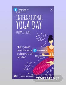 Free International Yoga Day Instagram Story Template