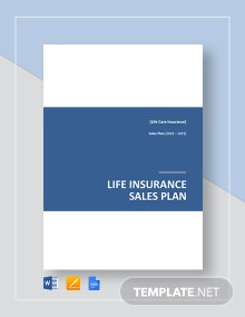 Life Insurance Sales Plan Template