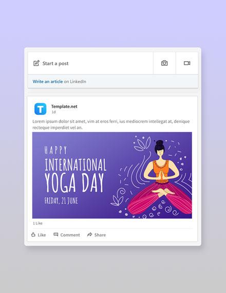 Free International Yoga Day Linkedin Post Template