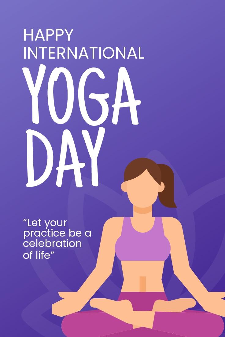 International Yoga Day Pinerest Pin Template.jpe