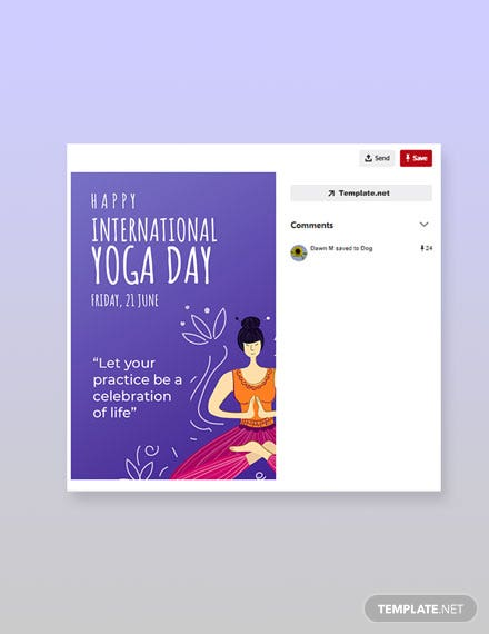 Free International Yoga Day Pinerest Pin Template