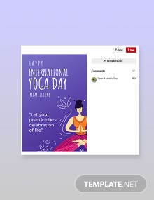 International Yoga Day Pinerest Pin Template