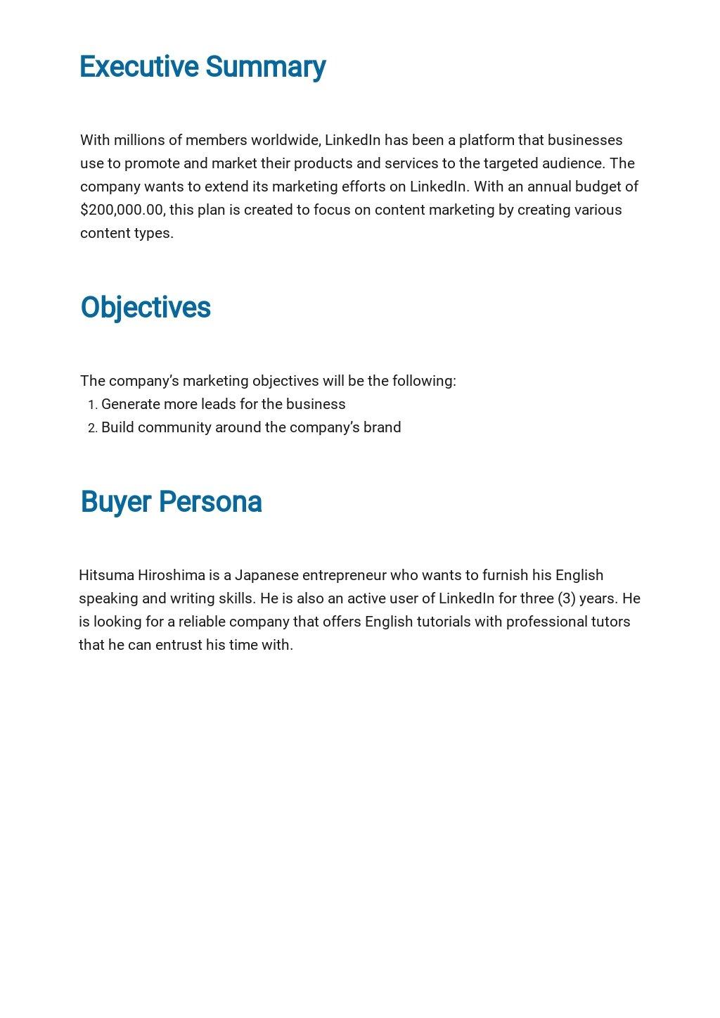 LinkedIn Marketing Plan Template 1.jpe