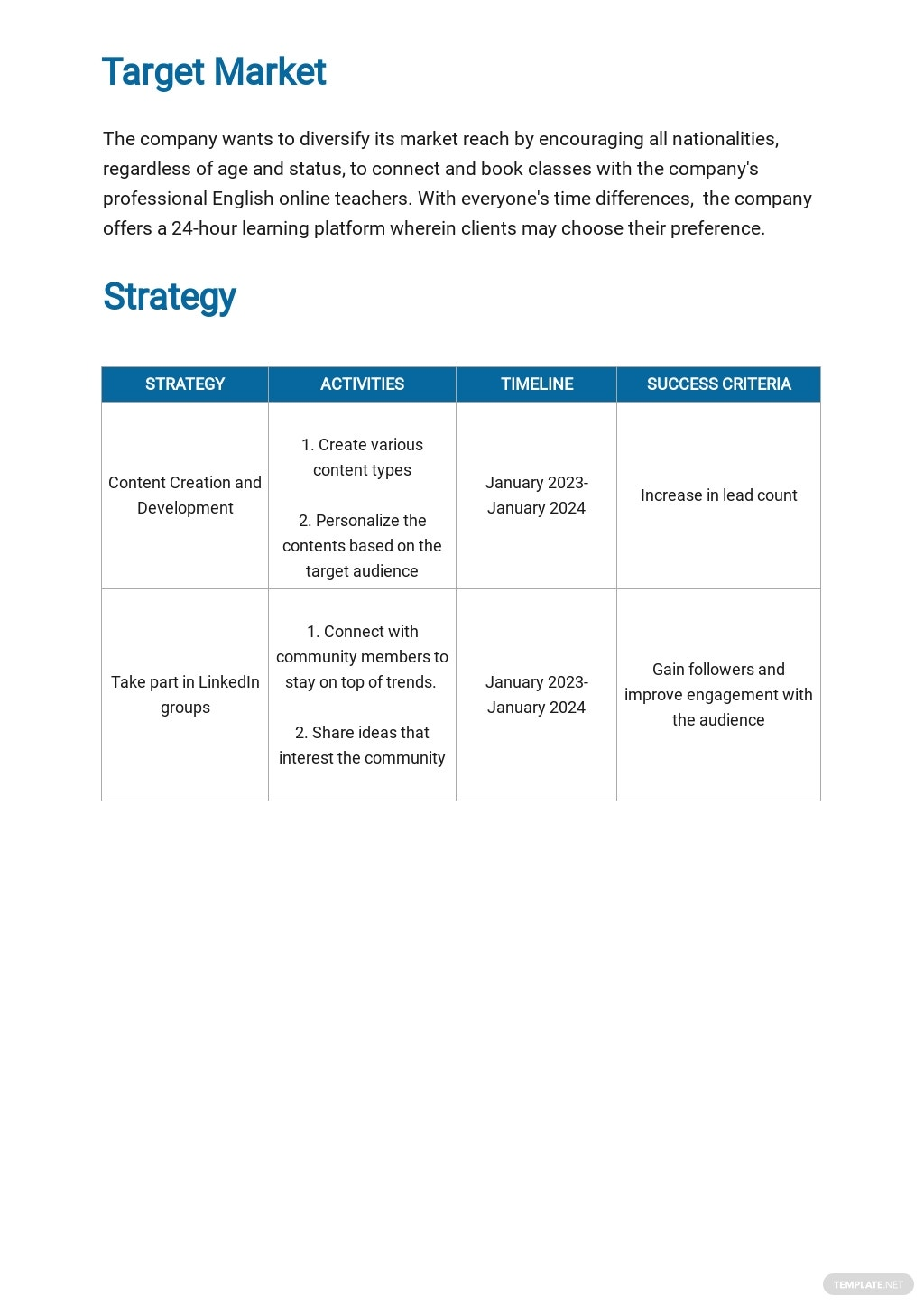 LinkedIn Marketing Plan Template 2.jpe