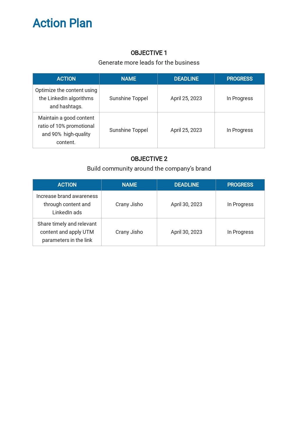 LinkedIn Marketing Plan Template 4.jpe