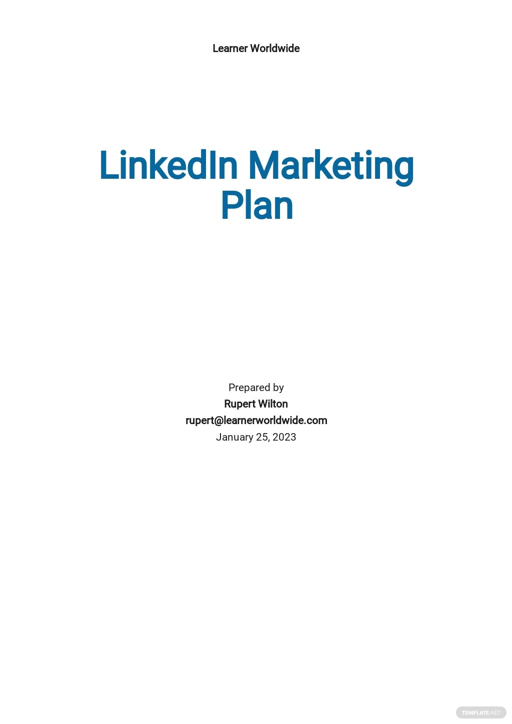 LinkedIn Marketing Plan Template.jpe
