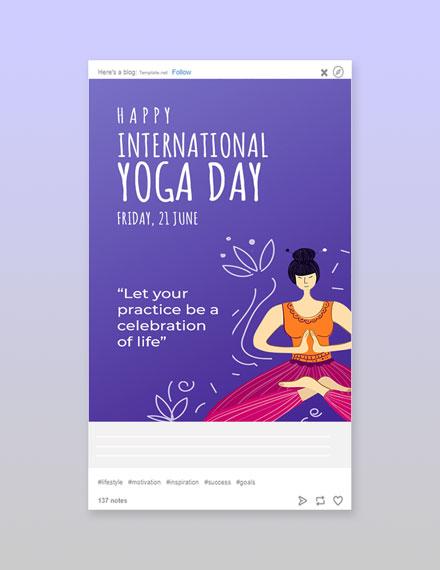 Free International Yoga Day Tumblr Post Template