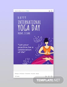 Free International Yoga Day Tumblr Post Template