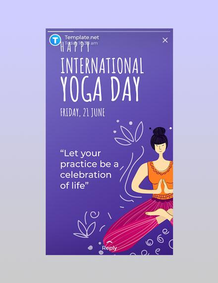 Free International Yoga Day WhatsApp Image Template