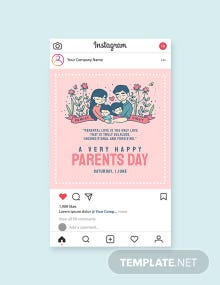 Free Parents Day Instagram Post Template