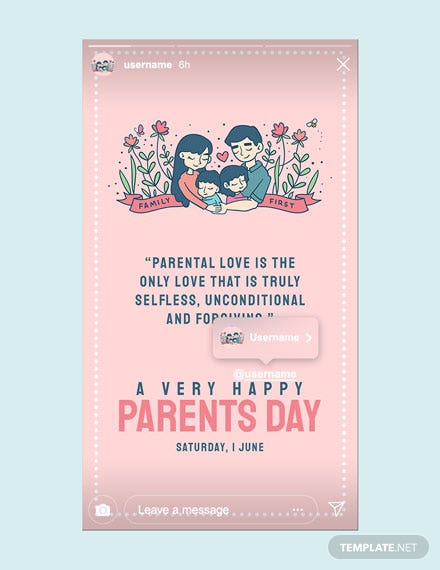 Free Parents Day Instagram Story Template
