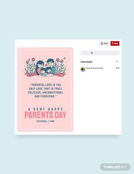 Free Parents Day Pinterest Pin Template