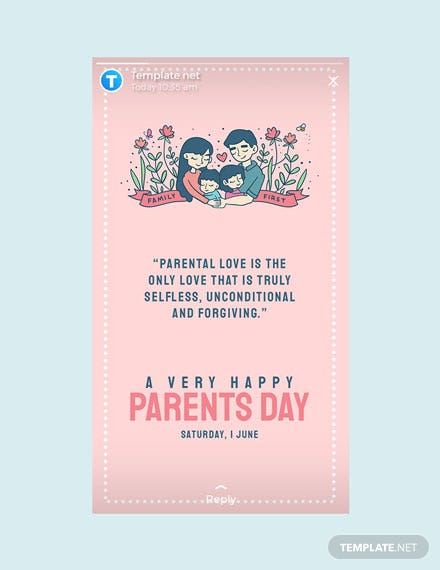 Free Parents Day WhatsApp Image Template