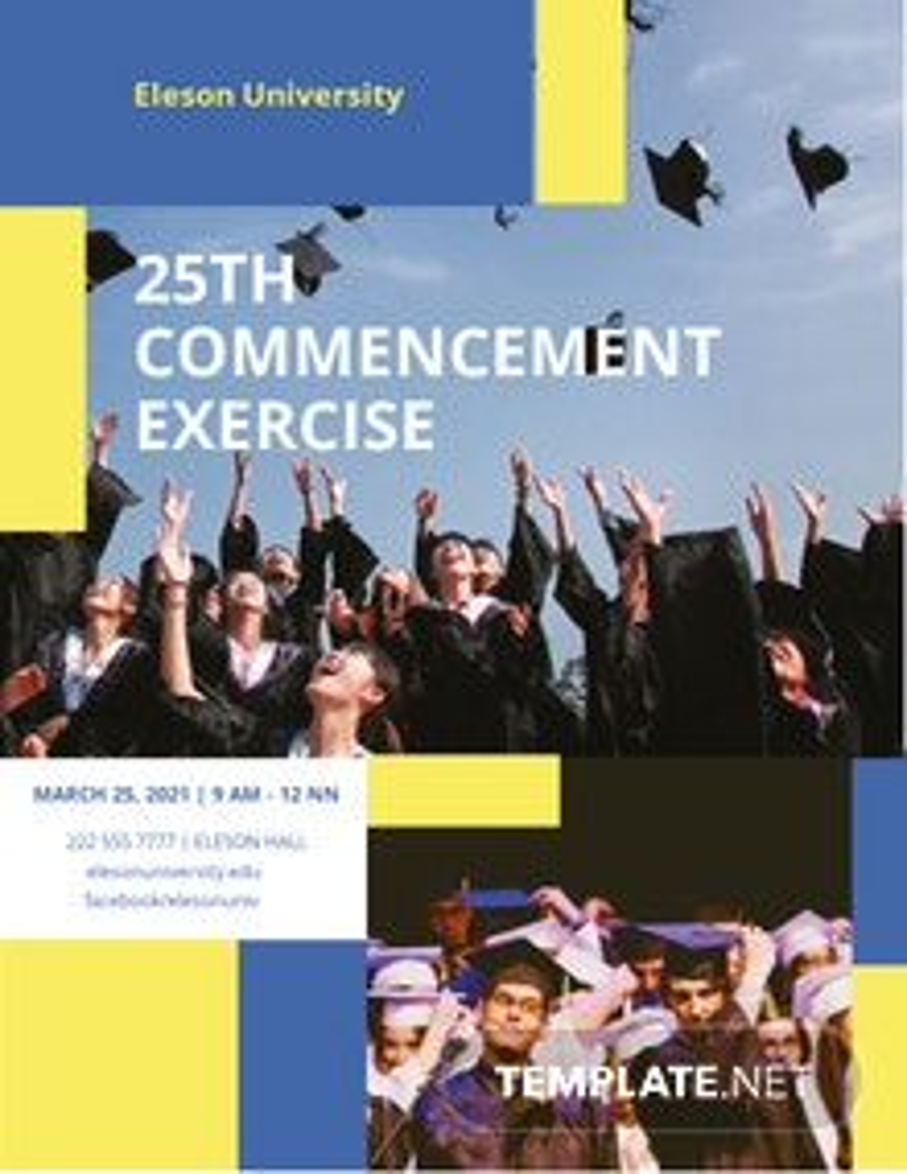 University Graduation Flyer Template