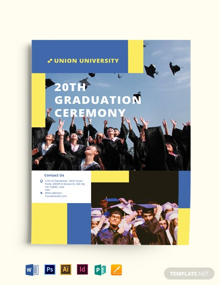 University Graduation Flyer Template