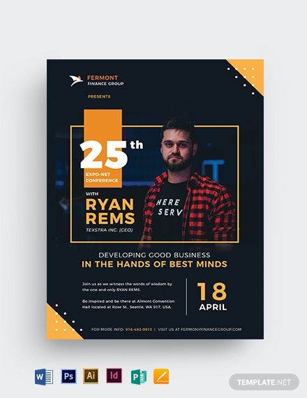 Conference Speaker Flyer Template