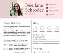 Free Fresher School Teacher Resume Format
