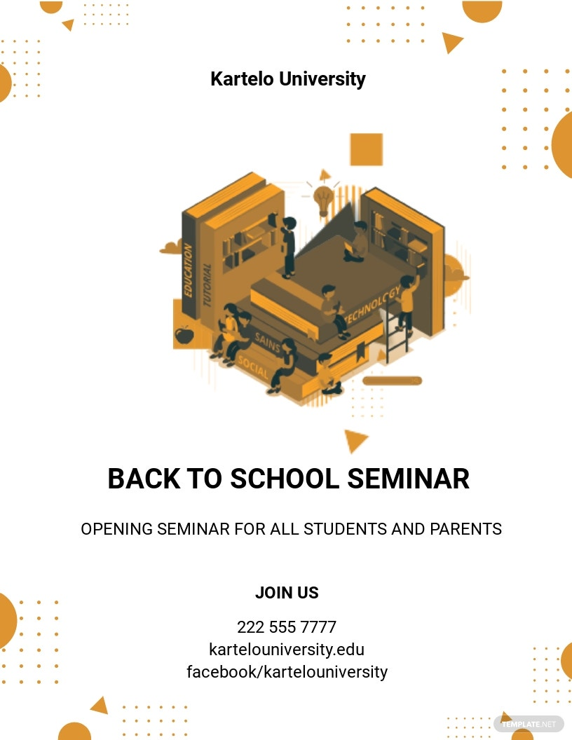 Creative Back to School Flyer Template
