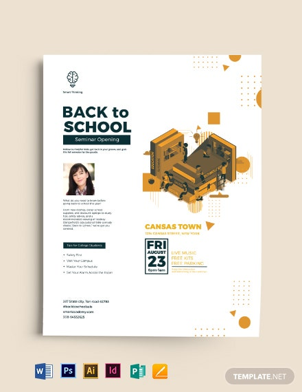 Creative Back To School Flyer Template Download 935 Flyers In