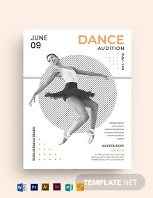 Creative Dance Audition Flyer Template