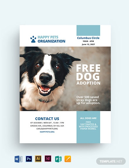 Cute Pet Adoption Bonus Flyer Template