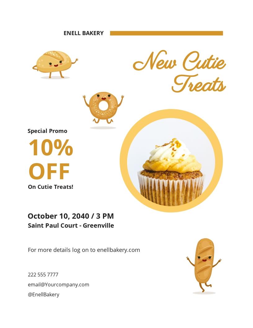 Cutie Treats Bakery Flyer Template.jpe