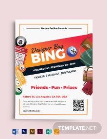 Designer Bag Bingo Flyer Template